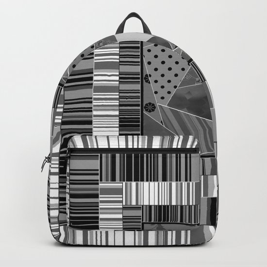 Abstract pattern . Patchwork striped . Backpack