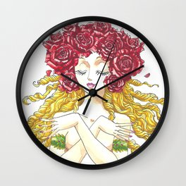 Roses crown Wall Clock