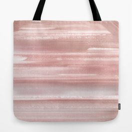 Geode Crystal Rose Gold Pink Tote Bag
