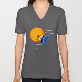 Excuse Me Total Solar Eclipse August 21 2017 Unisex V-Neck