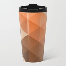 Warm Brown  -  Geometric Triangle Pattern Travel Mug