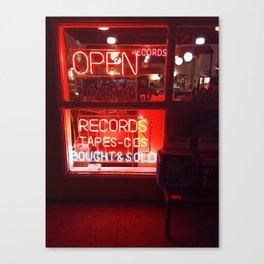 Record Store Window Canvas Print