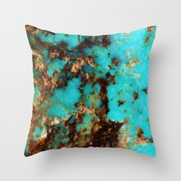Turquoise I Throw Pillow