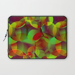 Vector abstract seamless background from space yellow and green bright circles and bubbles for fabri Laptop Sleeve