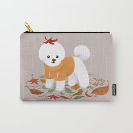 Autumnal Bichon Carry-All Pouch