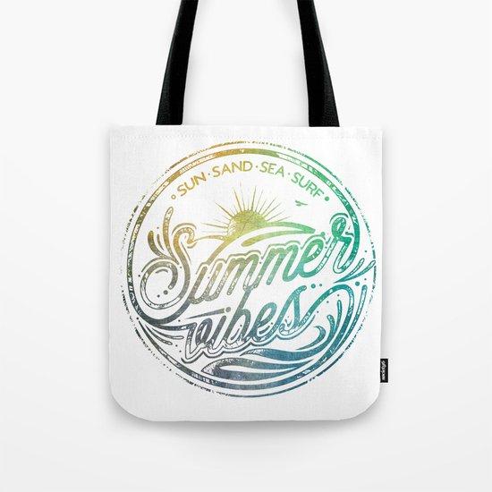 Summer vibes - typo artwork Tote Bag