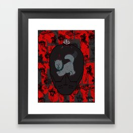 GET THEM, PUPPY! Framed Art Print