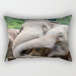 Elephants Art One Rectangular Pillow