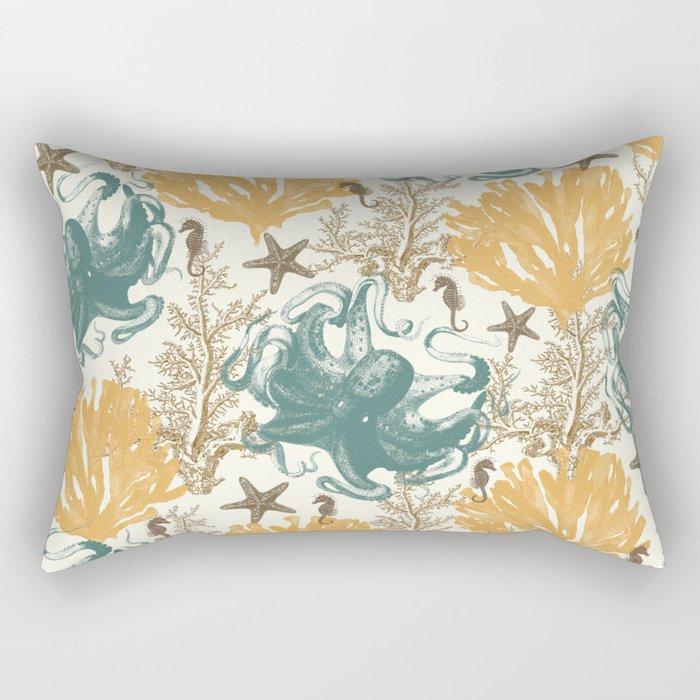 Aquatic Pattern 2 Rectangular Pillow