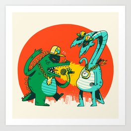 Kaiju Rap Battle Art Print