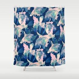 Ultramarine Orchid Shower Curtain