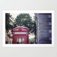 telephone Art Prints featuring Telephone.  by Ciara Rose Photography