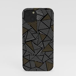 Ab Linear with Gold Repeat iPhone Case