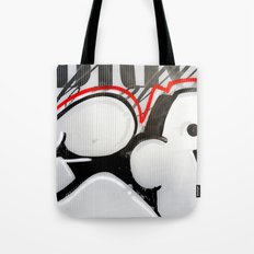 City Lovers Through the Red Line Tote Bag