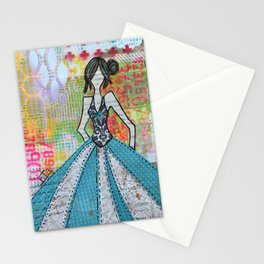 Blue Glamour Stationery Cards