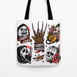 Horror Icon Flash Sheet Tote Bag