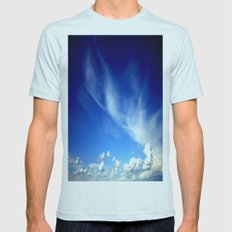 Cloud Formations SMALL Mens Fitted Tee Light Blue