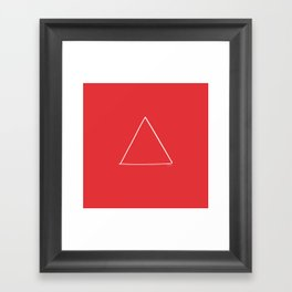 Fire - Minimal FS - by Friztin Framed Art Print
