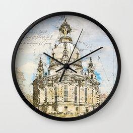 Frauenkirche, Dresden Germany Wall Clock