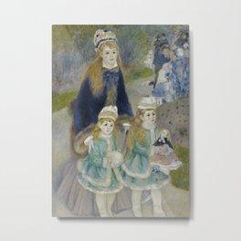 Mother and Children (La Promenade) Metal Print