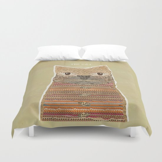 the cat Duvet Cover