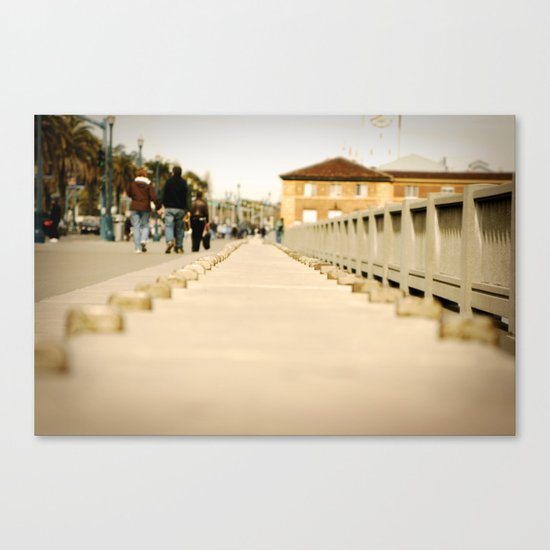 Walking down the Embarcadero in San Francisco Canvas Print