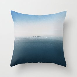 The cold Sea Throw Pillow
