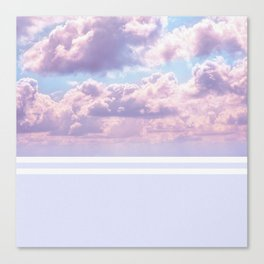 Dreamy Pastel Sky on Violet Canvas Print