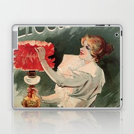Electricine, French luxury lighting vintage ad Laptop & iPad Skin
