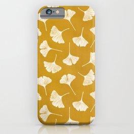 Ginkgo Biloba | Yellow Background iPhone Case
