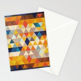 Geometric Triangle - Ethnic Inspired Pattern - Orange, Blue Stationery Cards