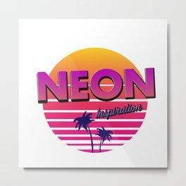 Neon inspiration 80s 90s style Metal Print