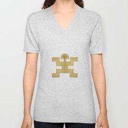 Pectoral Pre-Columbian Gold Piece Unisex V-Neck