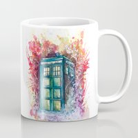 doctor Mugs featuring Doctor Who Tardis by Jessi Adrignola