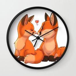 Foxy Kissy Wall Clock