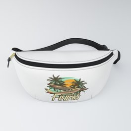 I'd Rather Be Flying Airplane Pilot Aviation Fanny Pack