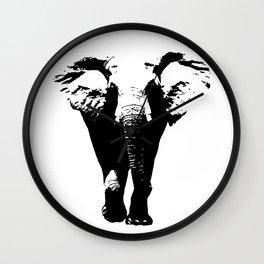 Elephant Silhouette Wall Clock