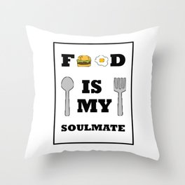 Show your endless infinite love Soulmate T-Shirt Food Throw Pillow
