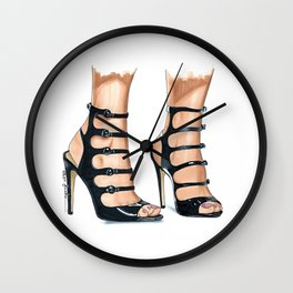Strappy Heels Wall Clock