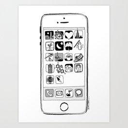 iPhone 5s Art Print