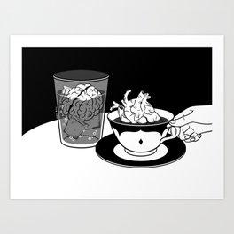 Cold Head, Warm Heart Art Print