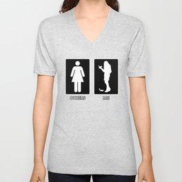 Others vs. Me (woman) - chipmunk Unisex V-Neck