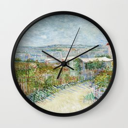 Vegetable Gardens at Montmartre by Vincent van Gogh Wall Clock