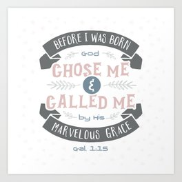 """""""Called"""" Hand-Lettered Bible Verse Art Print"""