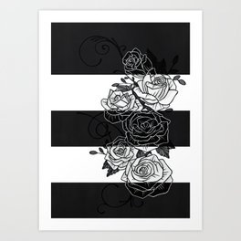 Inverted Roses Art Print