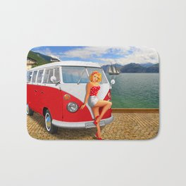 Holiday on Lake Garda in 1959 Bath Mat