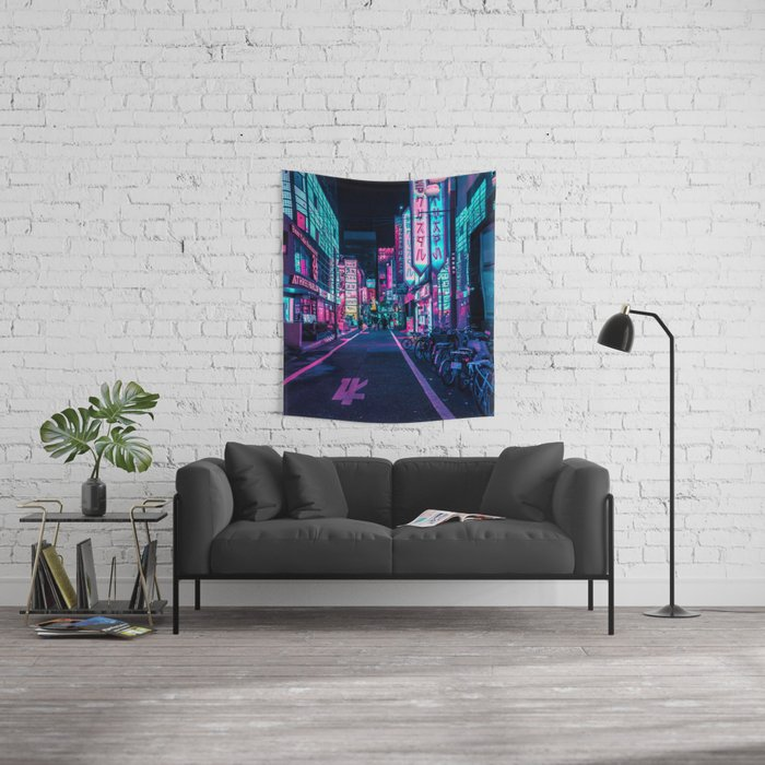 A Neon Wonderland called Tokyo Wall Tapestry