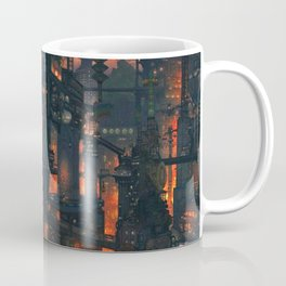 Breathtaking Future Cityscape Skyline Menacing Glow Cartoon Scenery Ultra High Resolution Coffee Mug