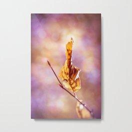 GOLDEN AUTUMN LEAF Metal Print