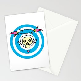 Skulls and Roses - symmetrical pattern  Stationery Cards
